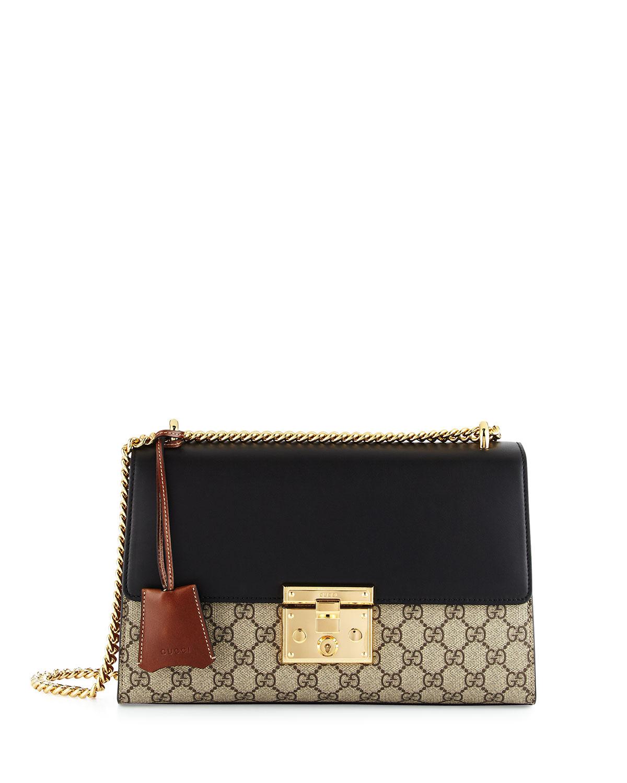 cbcfea137af Gucci Linea C GG Supreme Lock Shoulder Bag