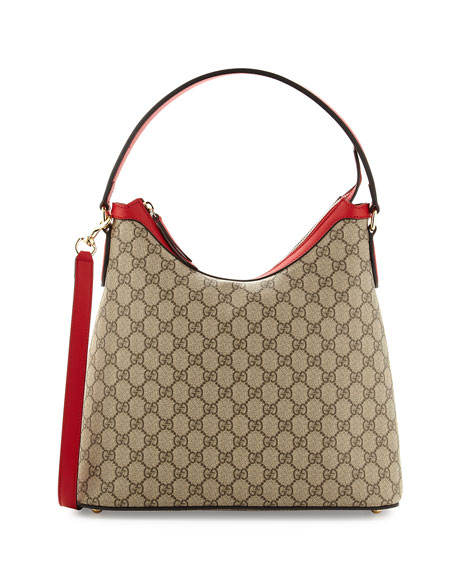 Gucci GG Supreme Hobo Bag, Red/Pink