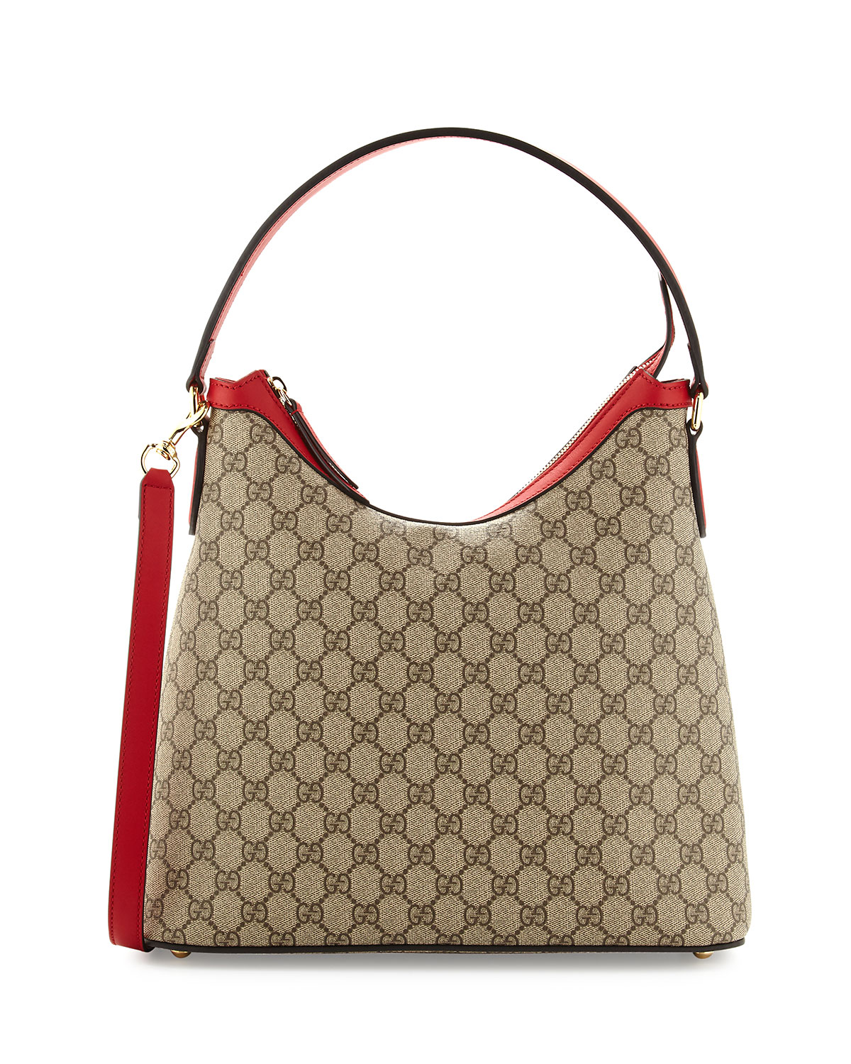 Gucci Gg Supreme Hobo Bag Red Pink