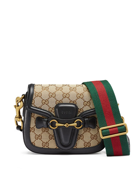 Gucci Lady Web Small GG Canvas Shoulder Bag,