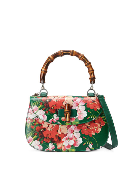 Look - Bamboo gucci classic blooms top handle bag video