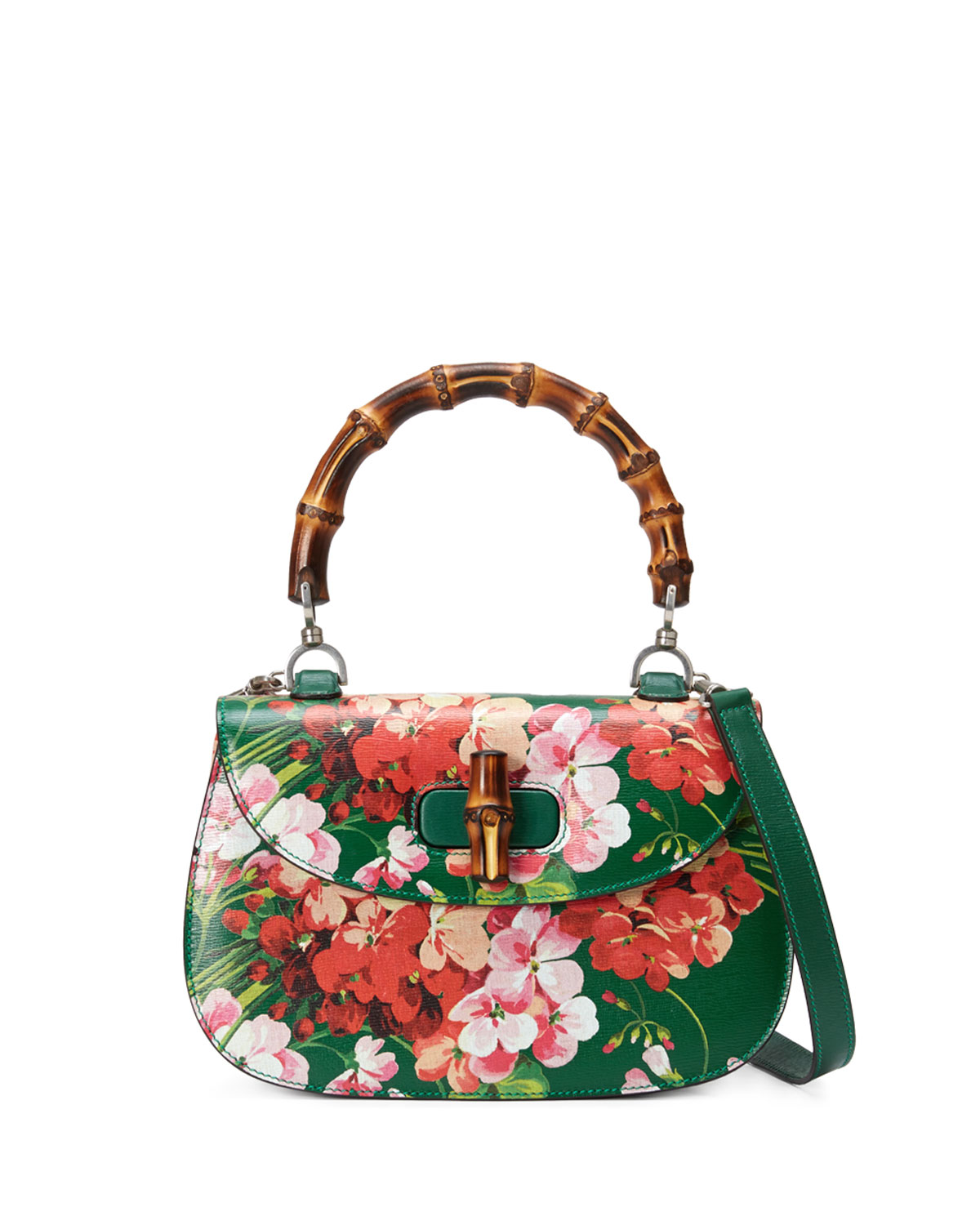 67b94e5221a Gucci Bamboo Classic Blooms Small Top-Handle Bag