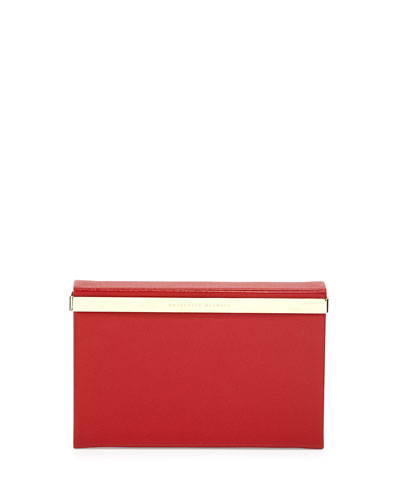 Vanity Leather Clutch Bag, Red