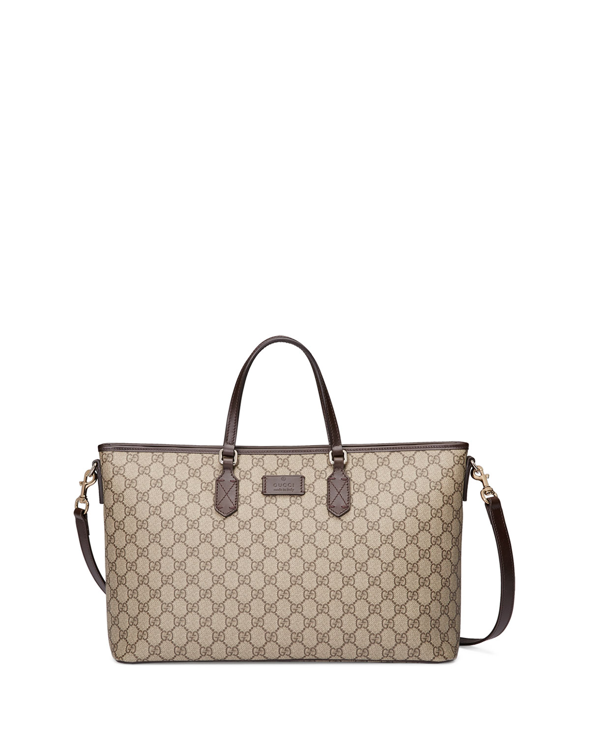Gucci Eden Gg Medium Tote Bag W Strap Brown