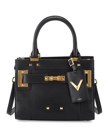 Valentino My Rockstud Mini Top-Handle Tote Bag, Black