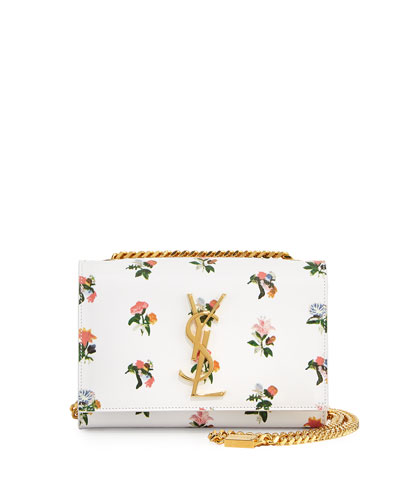 Monogram Prairie Flower Small Crossbody Bag, White Multi