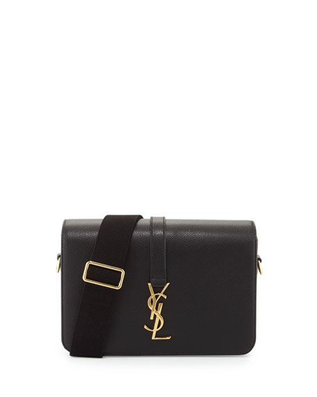 Saint Laurent Universite Leather Shoulder Bag, Black
