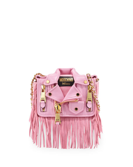 Moschino Jacket Shoulder Bag, Pink