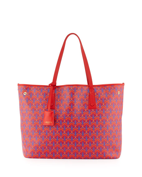 Liberty London Marlborough Iphis Printed Tote Bag, Red