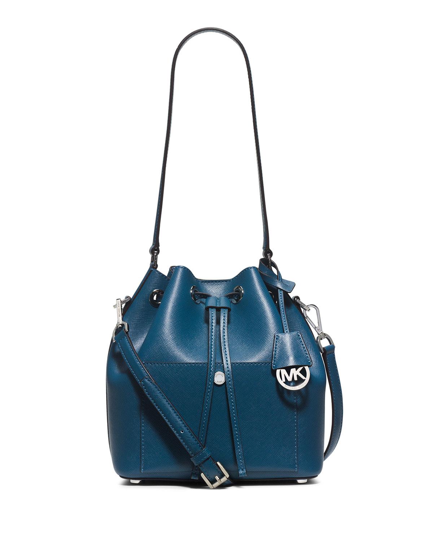 8c4526a158b1 MICHAEL Michael Kors Greenwich Medium Bucket Bag, Steel Blue/Light Sky