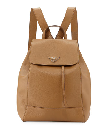 Vitello Daino Backpack, Caramel (Caramel)