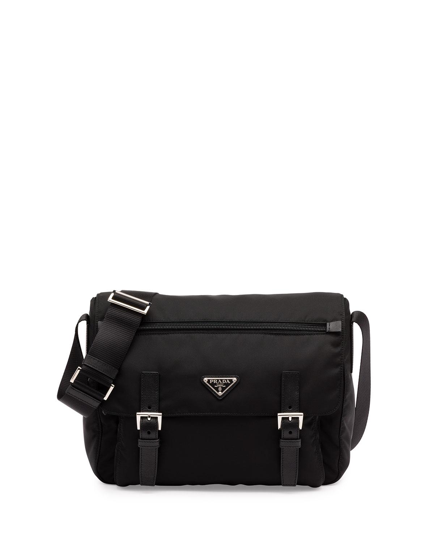 b2a130d2d0be Prada Nylon Messenger Bag | Neiman Marcus