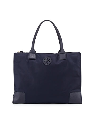 Ella Packable Nylon Tote Bag, Tory Navy