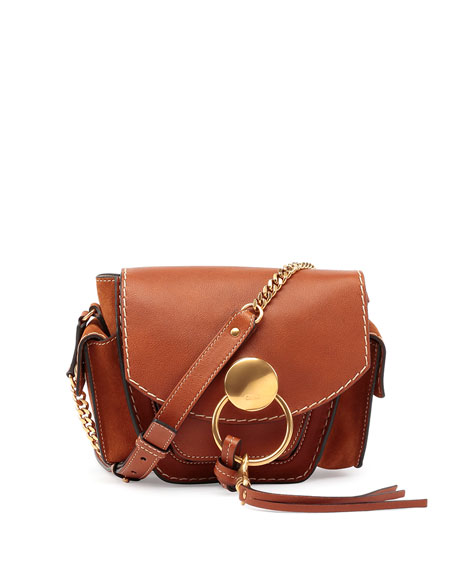 Chloe Jodie Small Leather Camera Bag, Caramel