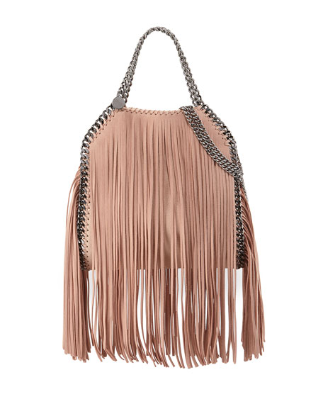 Stella McCartney Falabella Mini Fringe Tote Bag, Powder