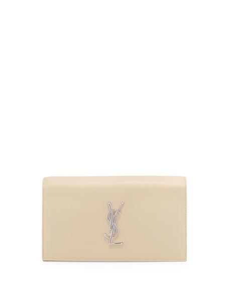 Monogram Grain Calfskin Clutch Bag, Nude Powder