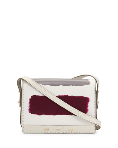 Pulce Leather Crossbody Bag, White Multi