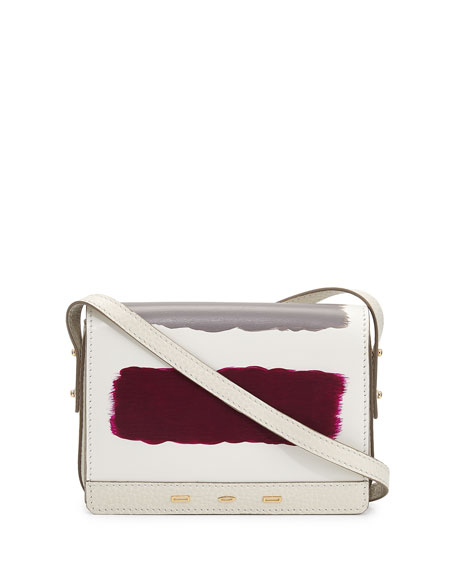 VBH Pulce Leather Crossbody Bag, White Multi