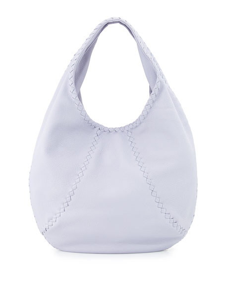 Bottega Veneta Cervo Large Hobo Bag, Oyster
