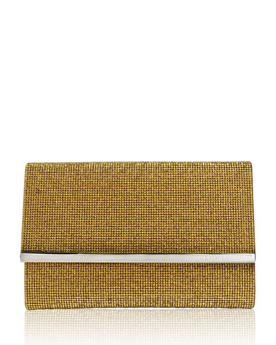 Guilia Fully Beaded Clutch Bag, Champagne Gold