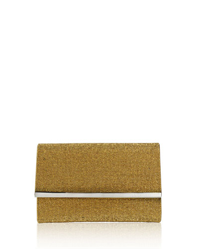 Guilia Fully Beaded Clutch Bag, Silver/Antiqued Gold