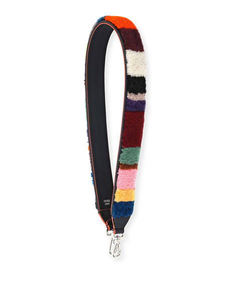 Shearling Multi-Stripe Shoulder Strap for Handbag