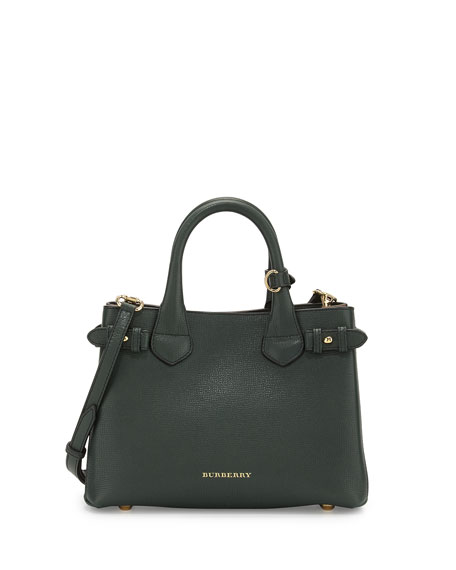 Burberry Banner Small House Check Derby Tote Bag, Dark Bottle ...