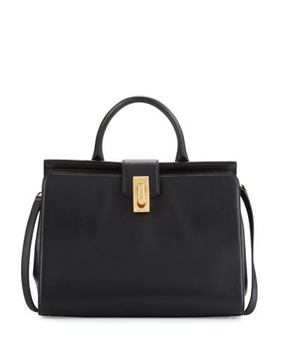 West End Large Satchel Bag, Black