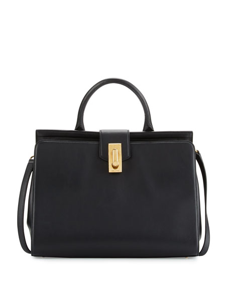 Marc Jacobs West End Large Satchel Bag, Black