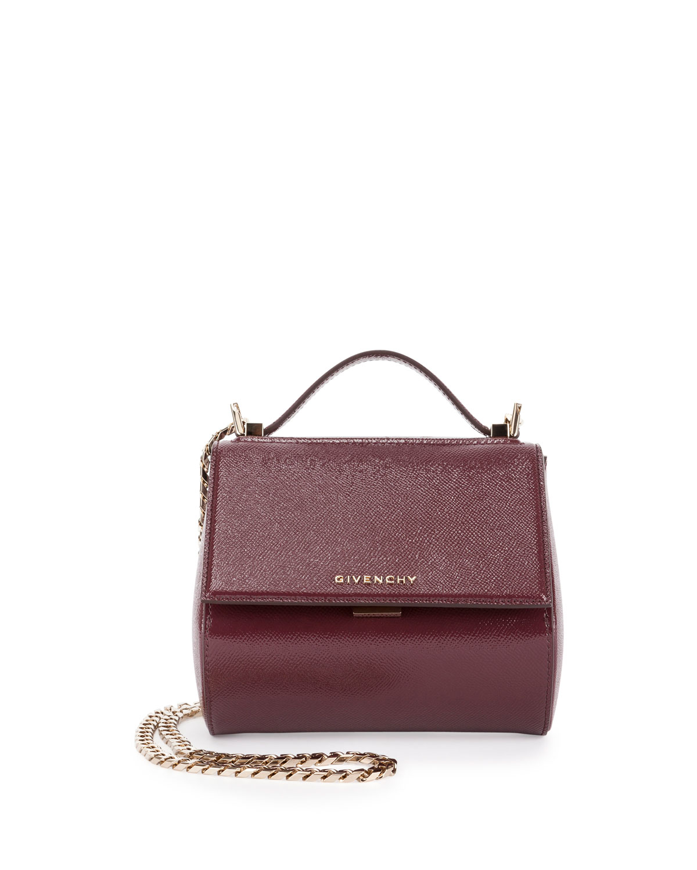 903366155e8d Givenchy Pandora Box Patent Mini Chain Shoulder Bag
