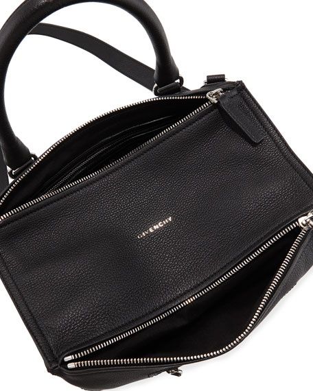 Pandora Medium Sugar Satchel Bag, Black