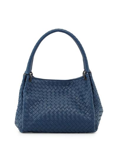 Parachute Small Intrecciato Tote Bag, Cobalt Blue