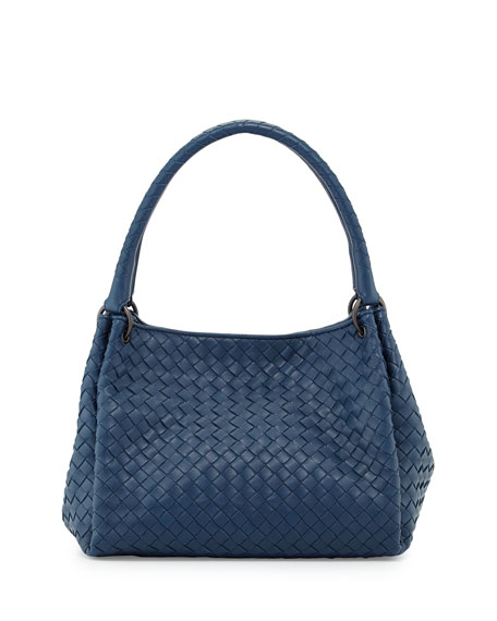 Bottega Veneta Parachute Small Intrecciato Tote Bag, Cobalt