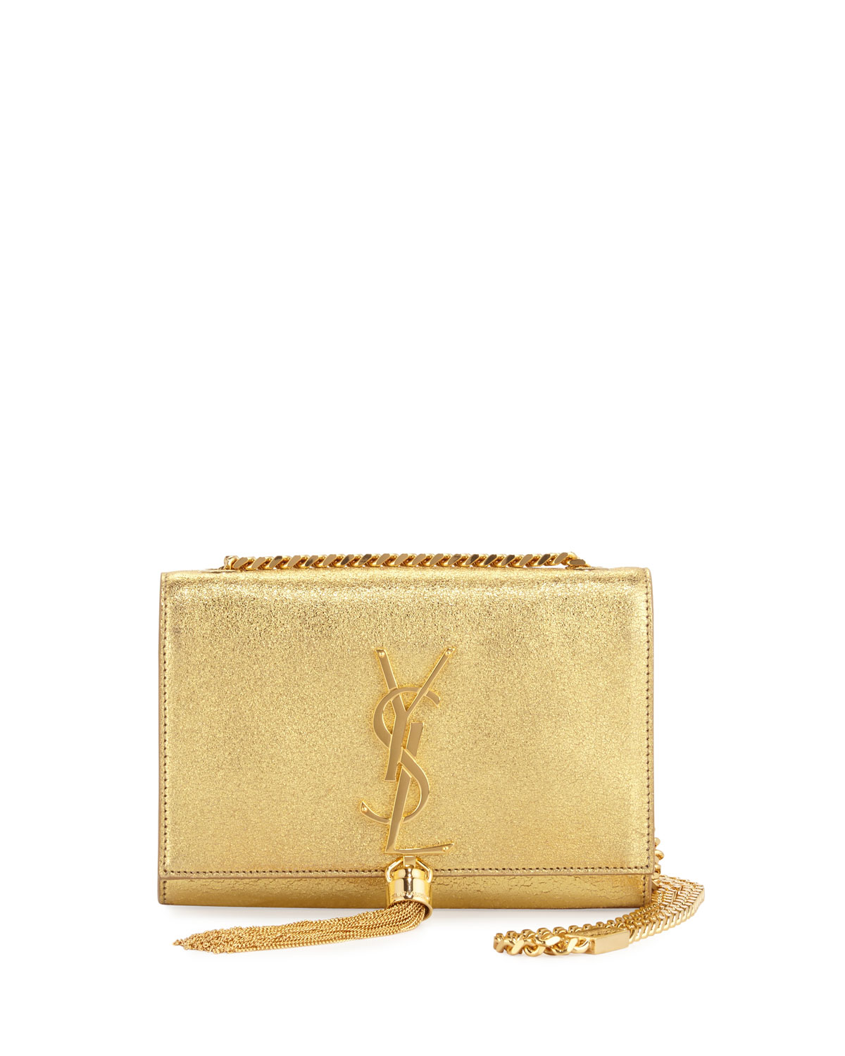 Saint LaurentMonogram Small Kate Metallic Tassel Crossbody Bag, Gold 63bc6074db
