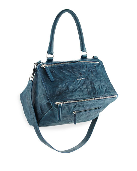 Givenchy Pandora Medium Pepe Leather Shoulder Bag, Navy