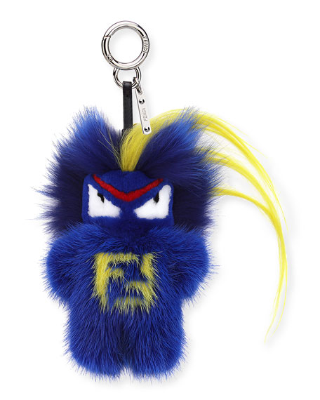 Fendi Fendirumi Micro Monster Charm, Blue/Multi