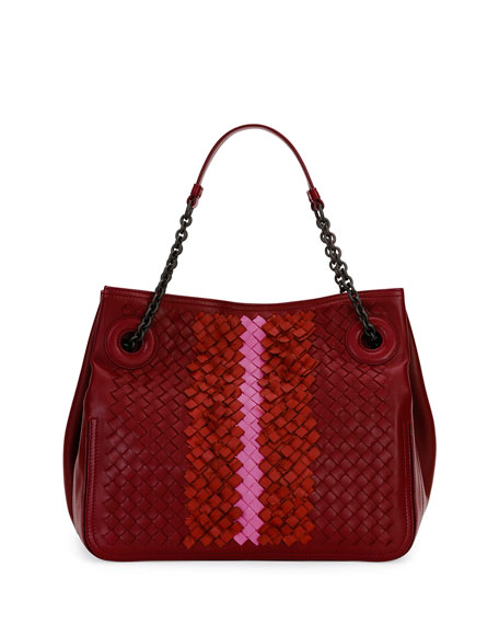 Bottega Veneta Intrecciato Chain-Handle Tote Bag