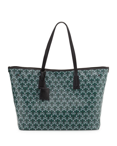 Marlborough Iphis-Print Tote Bag, Dark Green