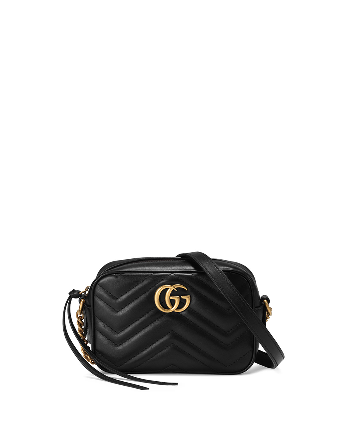 06441ab0b703 Gucci GG Marmont Mini Matelasse Camera Bag, Black | Neiman Marcus