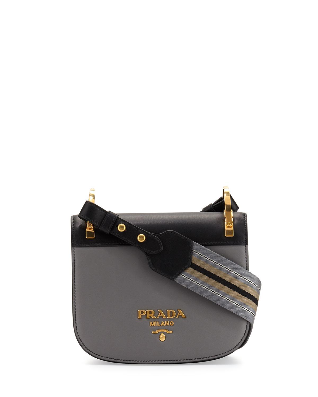 ca9a84e1ad68 Prada Pionniere Web-Strap Shoulder Bag