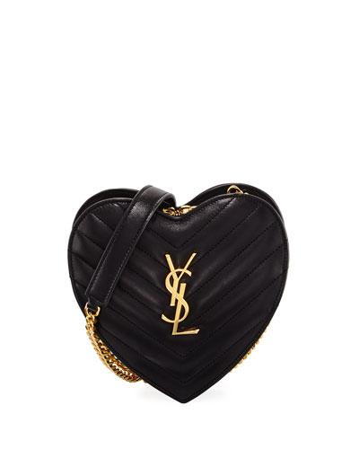 Monogram Small Love Crossbody Bag, Black