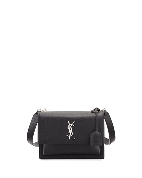 d2e15173f Saint Laurent Sunset Medium Crossbody Bag, Black | Neiman Marcus