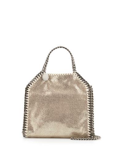 Falabella Tiny Shoulder Bag, Platinum