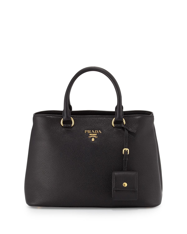 967c8e314a548c Prada Vitello Daino Tote Bag, Black (Nero) | Neiman Marcus