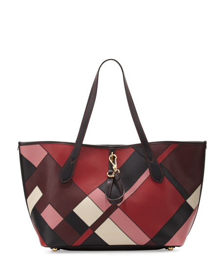 Burberry Honeybrook Medium Patchwork Tote Bag, Pink