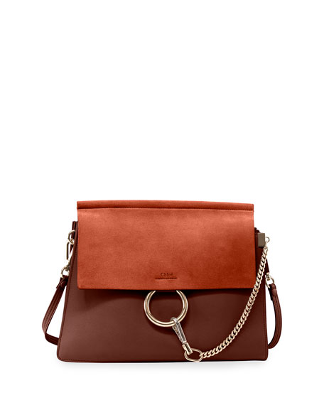 Image 1 of 3: Chloe Faye Medium Flap Shoulder Bag