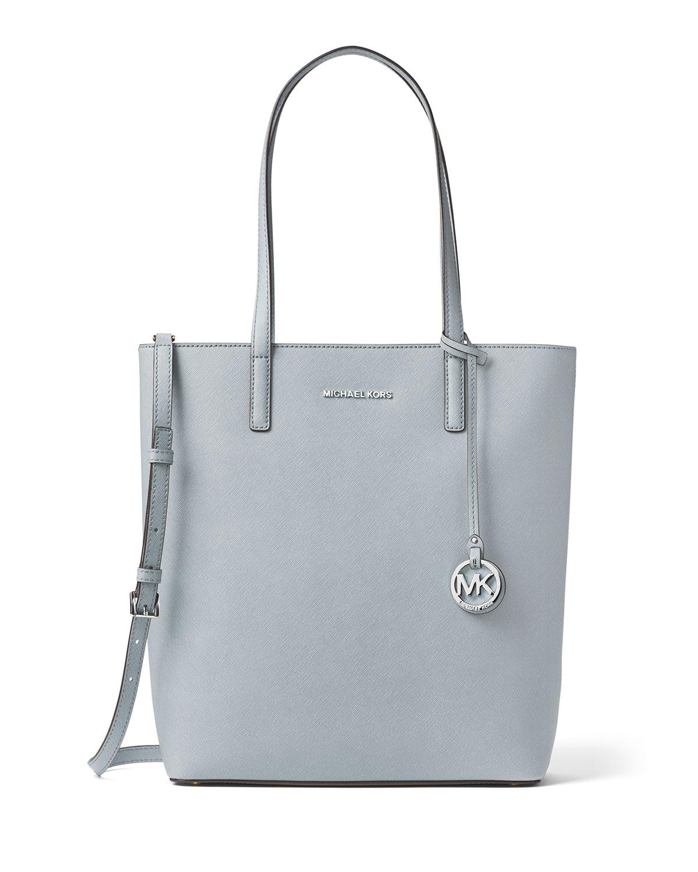 ee445c4602f9 MICHAEL Michael Kors Hayley Large Top-Zip Leather Tote Bag | Neiman ...