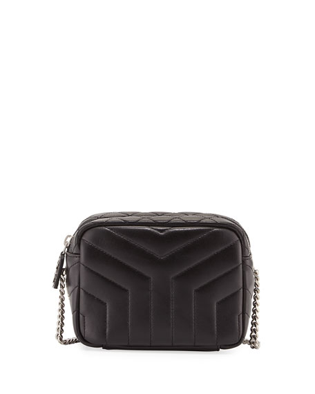 Saint Laurent Monogram Y-Quilted Mini Leather Camera Crossbody