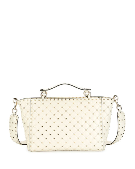 Rockstud Spike Large Quilted Leather Tote Bag