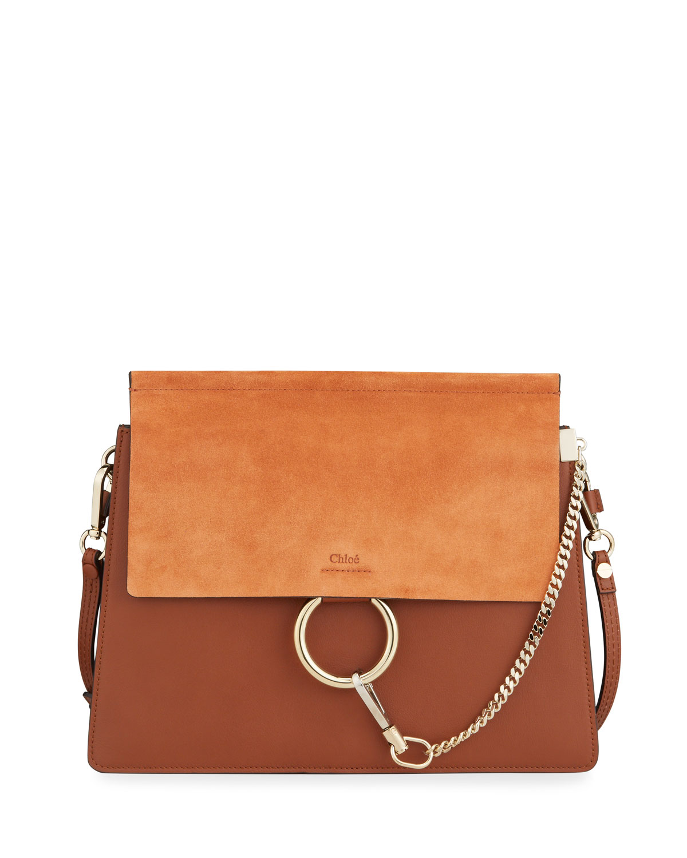 1a40e05b48 Faye Medium Leather & Suede Shoulder Bag
